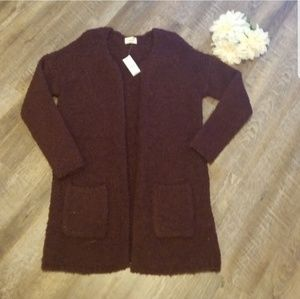 NWT pac sun S/XS oversize cardigan open front cozy